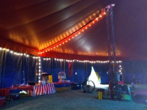 Inside Circus Tent